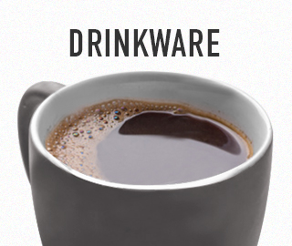 Picture of cup of coffee. Click to shop Drinkware.